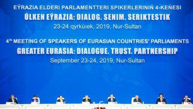 صورة إطلاق منتدى برلمانات أورآسيا في العاصمة الكازاخية