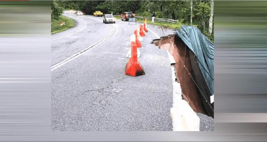 ازدحام متوقع بعد انهيار جزء من طريق كاميرون هايلاندز