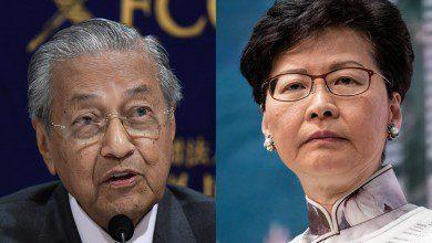 صورة مهاتير محمد يدعو رئيسة وزراء هونج كونج للاستقالة