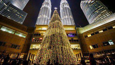 Photo of بارتفاع 100 قدم.. أطول شجرة عيد ميلاد في ماليزيا استعداداً لاحتفال رأس السنة