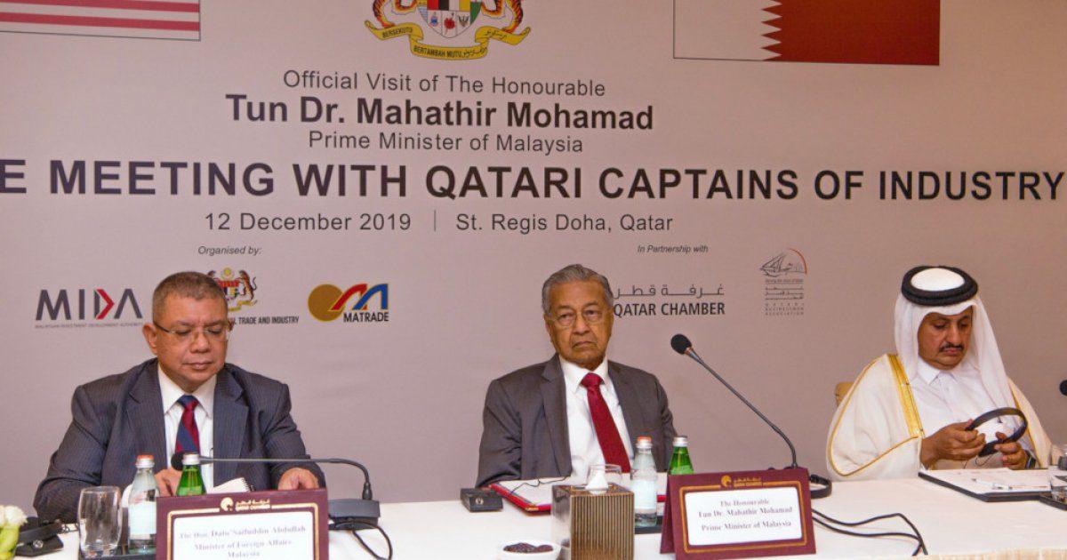 مهاتير: ماليزيا وجهة مثالية للمستثمرين القطريين