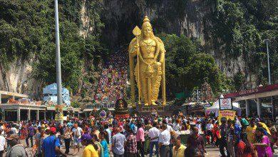 "Photo of الطائفة الهندوسية في ماليزيا تحتفل بعيد ""مورغان"""