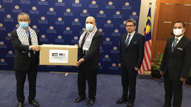 صورة الحكومة الماليزية تقدم مساعدات خاصة بفلسطين لمكافحة كوفيد-19