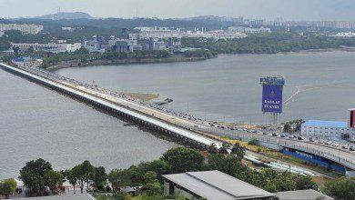 صورة ماليزيا وسنغافورة نحو فتح الحدود المشتركة في 10 أغسطس
