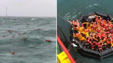 صورة قتيل وأربعة مفقودين بعد غرق سفينة قبالة ساحل سرواك