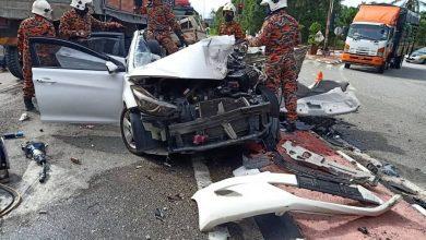 صورة قتلى ومصابون في حادث سير مروع على أحد الطرق السريعة في جوهور