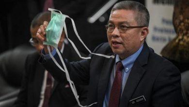 صورة وزير الصحة الماليزي أدهم بابا في الحجر الصحي