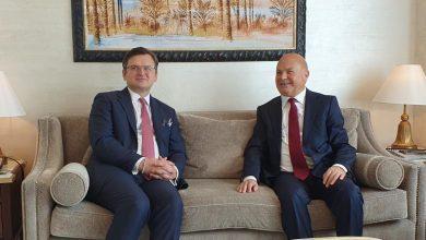 صورة وزير الخارجية الأوكراني خلال زيارته للإمارات: أوكرانيا تتمتع بقدرات هائلة في الطاقة النووية و تكنولوجيا الأقمار الصناعية