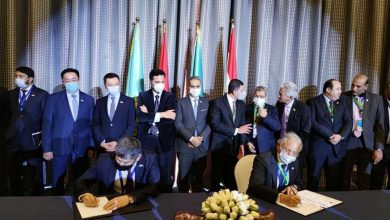 """صورة على هامش معرض """"صُنع في كازاخستان"""" القاهرة ونور سلطان توقعان اتفاقيات تجارية وطبية"""
