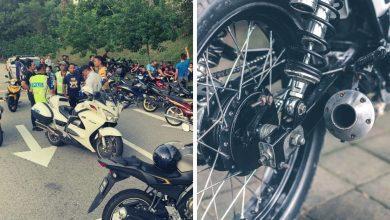 """صورة حملة مشددة.. المرور الماليزي يصعد من إجراءاته ضد الدراجات النارية """"الصاخبة"""""""