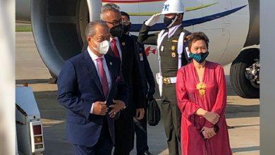 """صورة رئيس الوزراء الماليزي في جاكرتا للمشاركة في اجتماع خاص لدول """"الآسيان"""""""
