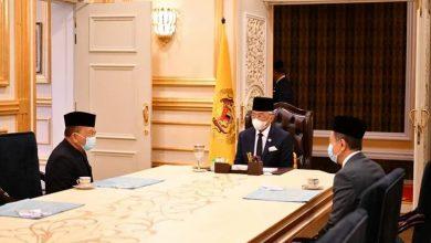 صورة رئيس البرلمان الماليزي يجتمع مع الملك لبحث موعد انعقاد جلساته