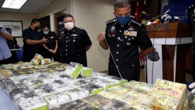 صورة شرطة جوهور تضبط كميات مخدرات بقيمة 344 مليون رينجيت
