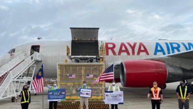 صورة تبرع من الولايات المتحدة الأمريكية.. مليون جرعة لقاح تصل إلى ماليزيا