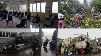 صورة العواصف والفيضانات تغمر 7 مناطق في جوهور وتواصل عمليات الإنقاذ