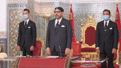 صورة ملك المغرب يوجه خطاباً للشعب بمناسبة عيد العرش