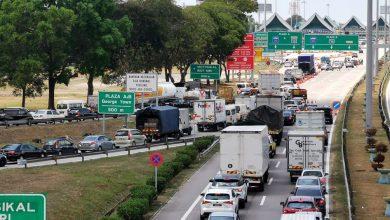 صورة ارتفاع بنسبة 30% على حركة المرور في جوهور مع زيادة الرحلات بين الولايات